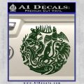 Game of Thrones Circle of Sigils Decal Sticker Dark Green Vinyl 120x120