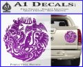 Game of Thrones Circle of Sigils Decal Sticker Purple Vinyl 120x97