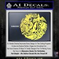 Game of Thrones Circle of Sigils Decal Sticker Yelllow Vinyl 120x120