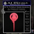Game of Thrones Hand of the King Pin DLB Decal Sticker Pink Vinyl Emblem 120x120