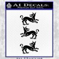 Game of Thrones House Clegane D3 Decal Sticker Black Logo Emblem 120x120