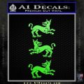 Game of Thrones House Clegane D3 Decal Sticker Lime Green Vinyl 120x120