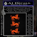 Game of Thrones House Clegane D3 Decal Sticker Orange Vinyl Emblem 120x120