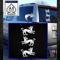 Game of Thrones House Clegane D3 Decal Sticker White Emblem 120x120