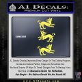 Game of Thrones House Clegane D3 Decal Sticker Yelllow Vinyl 120x120