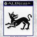Game of Thrones House Clegane Decal Sticker Black Logo Emblem 120x120