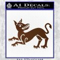 Game of Thrones House Clegane Decal Sticker Brown Vinyl 120x120