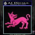 Game of Thrones House Clegane Decal Sticker Hot Pink Vinyl 120x120