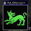 Game of Thrones House Clegane Decal Sticker Lime Green Vinyl 120x120