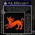 Game of Thrones House Clegane Decal Sticker Orange Vinyl Emblem 120x120