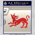 Game of Thrones House Clegane Decal Sticker Red Vinyl 120x120