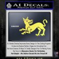Game of Thrones House Clegane Decal Sticker Yelllow Vinyl 120x120