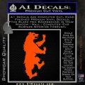 Game of Thrones House Mormont Decal Sticker Orange Vinyl Emblem 120x120