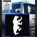 Game of Thrones House Mormont Decal Sticker White Emblem 120x120