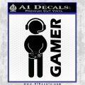 Gamer Decal Sticker Black Logo Emblem 120x120