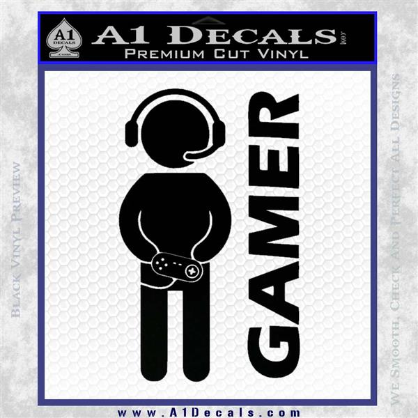 Gamer Decal Sticker Black Logo Emblem