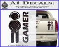 Gamer Decal Sticker Carbon Fiber Black 120x97