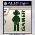 Gamer Decal Sticker Dark Green Vinyl 120x120