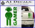 Gamer Decal Sticker Green Vinyl 120x97
