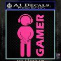 Gamer Decal Sticker Hot Pink Vinyl 120x120