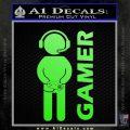 Gamer Decal Sticker Lime Green Vinyl 120x120