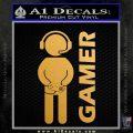 Gamer Decal Sticker Metallic Gold Vinyl Vinyl 120x120