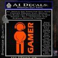 Gamer Decal Sticker Orange Vinyl Emblem 120x120
