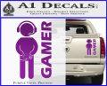 Gamer Decal Sticker Purple Vinyl 120x97