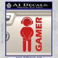 Gamer Decal Sticker Red Vinyl 120x120