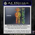 Gamer Decal Sticker Sparkle Glitter Vinyl 120x120
