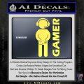 Gamer Decal Sticker Yelllow Vinyl 120x120