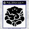 Ganesh Yoga Hindu DLB Decal Sticker Black Logo Emblem 120x120