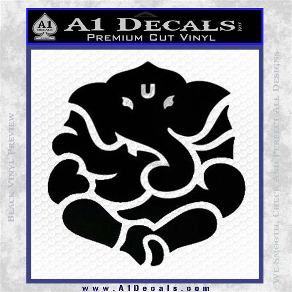 Ganesh Yoga Hindu DLB Decal Sticker Black Logo Emblem