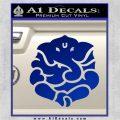 Ganesh Yoga Hindu DLB Decal Sticker Blue Vinyl 120x120