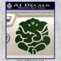 Ganesh Yoga Hindu DLB Decal Sticker Dark Green Vinyl 120x120