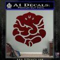 Ganesh Yoga Hindu DLB Decal Sticker Dark Red Vinyl 120x120