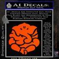 Ganesh Yoga Hindu DLB Decal Sticker Orange Vinyl Emblem 120x120