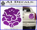 Ganesh Yoga Hindu DLB Decal Sticker Purple Vinyl 120x97