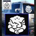 Ganesh Yoga Hindu DLB Decal Sticker White Emblem 120x120