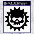Gears of War Skull D2 Decal Sticker Black Logo Emblem 120x120