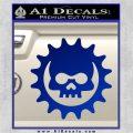 Gears of War Skull D2 Decal Sticker Blue Vinyl 120x120