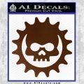 Gears of War Skull D2 Decal Sticker Brown Vinyl 120x120
