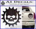 Gears of War Skull D2 Decal Sticker Carbon Fiber Black 120x97