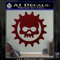 Gears of War Skull D2 Decal Sticker Dark Red Vinyl 120x120
