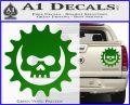 Gears of War Skull D2 Decal Sticker Green Vinyl 120x97