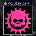 Gears of War Skull D2 Decal Sticker Hot Pink Vinyl 120x120