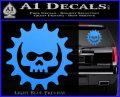Gears of War Skull D2 Decal Sticker Light Blue Vinyl 120x97