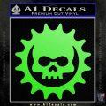 Gears of War Skull D2 Decal Sticker Lime Green Vinyl 120x120