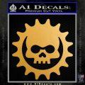 Gears of War Skull D2 Decal Sticker Metallic Gold Vinyl Vinyl 120x120