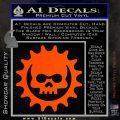 Gears of War Skull D2 Decal Sticker Orange Vinyl Emblem 120x120